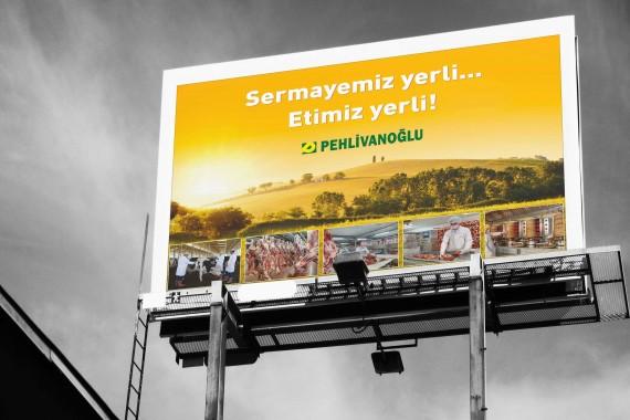 Pehlivanoğlu et entegre Pehlivanoğlu ilan tasarımı et ilanı Yerli Sermaye açık hava reklamı billboard