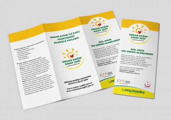 Organ Bağışı Sosyal Sorumluluk Projesi Pehlivanoğlu sosyal sorumluluk projesi organ bağışı sağlık bakanlığı föy tasarımı broşür tasarımı