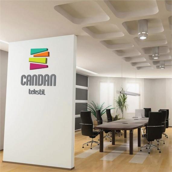 candan-tekstil-duvara-logo-uygulamasi