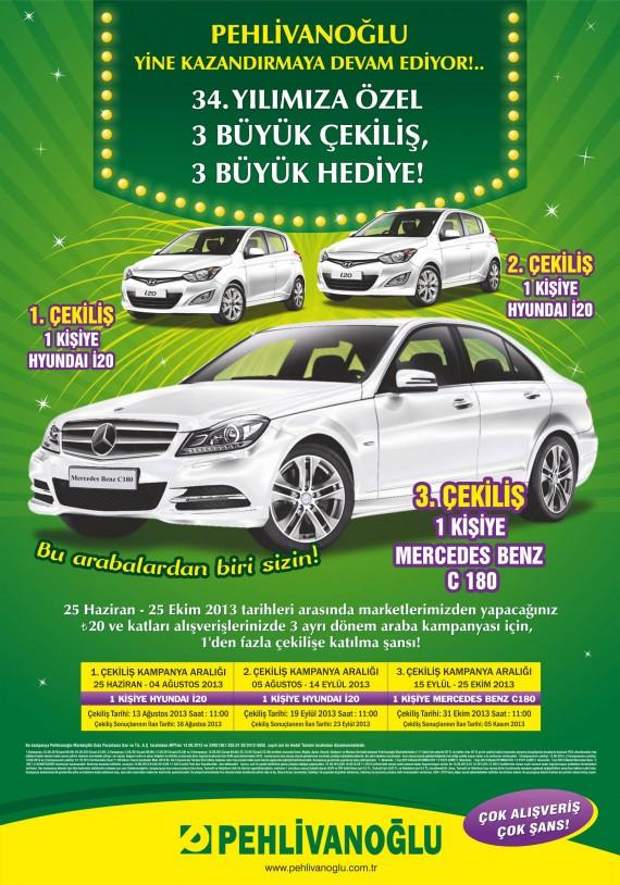 Pehlivanoğlu hediye kampanyası kampanya tasarımı pehlivanoğlu araba ilanı