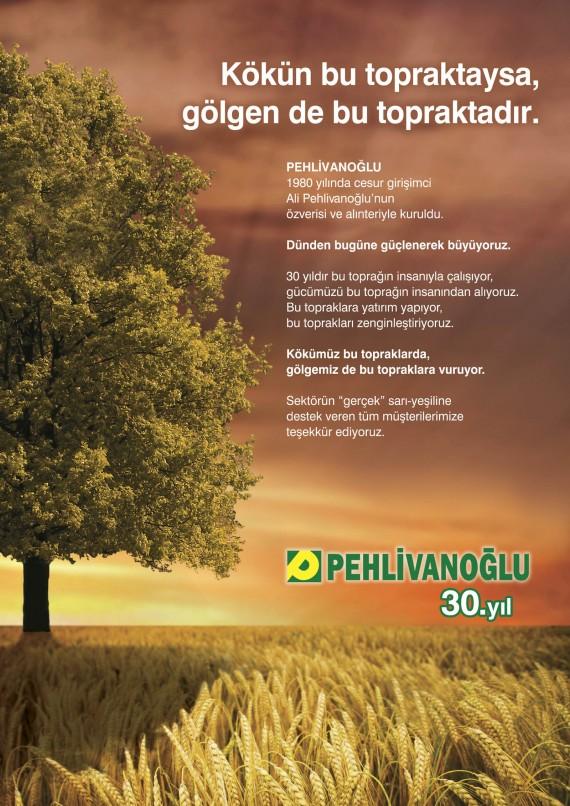 Pehlivanoğlu Prestij Basın İlanları Pehlivanoğlu Basın İlanları Tam Sayfa Gazete İlanı imaj ilanı yıl dönümü ilanı creative tasarım
