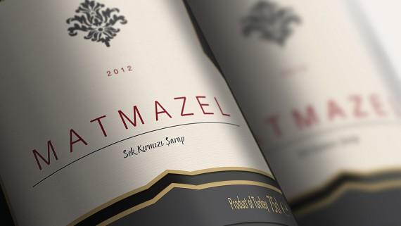 Matmazel Şarap Etiketi Tasarımı