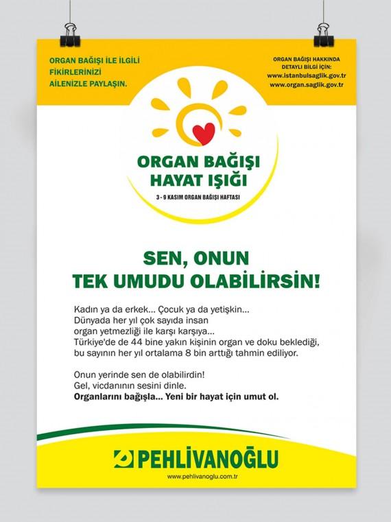 Organ Bağışı Sosyal Sorumluluk Projesi Pehlivanoğlu sosyal sorumluluk projesi organ bağışı sağlık bakanlığı föy tasarımı broşür tasarımı afiş tasarımı